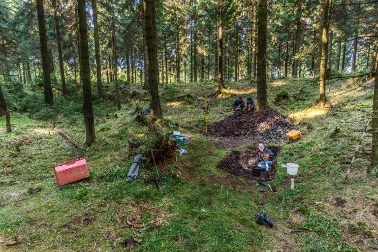 ©  Martin Jehnichen; Untersuchungen des LfA Sachsen (Projekt ArchaeoMontan) an der roten Weisseritz