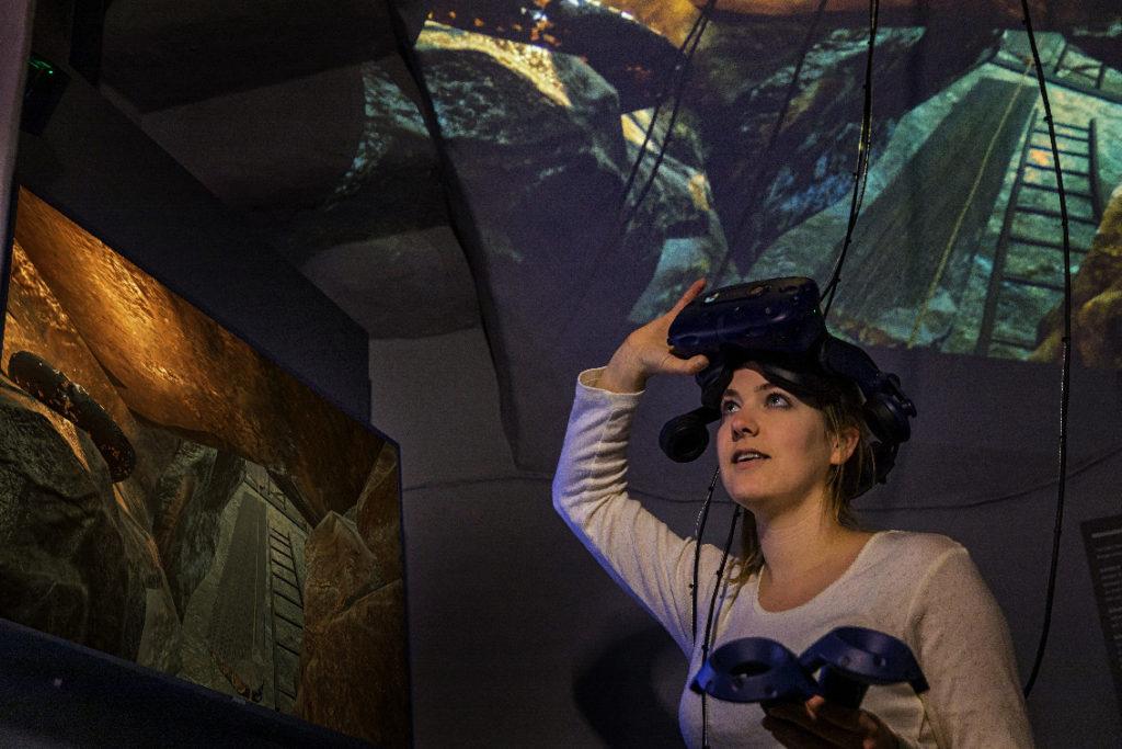 Fahren Sie virtuell in ein hochmittelalterliches Bergwerk ein und greifen selbst zum digitalen Schlägel und Eisen! Foto: Silvio Dittrich
